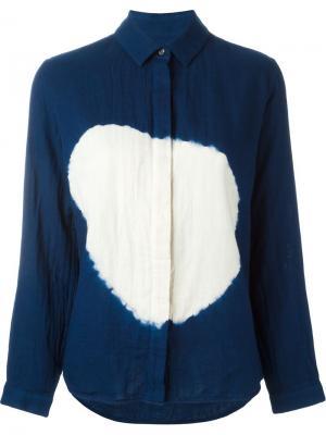Рубашка Boushi Shibori Suzusan. Цвет: синий