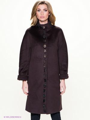 Пальто Malinardi. Цвет: темно-коричневый