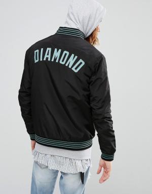 Diamond Supply Бомбер с вышивкой логотипа. Цвет: черный