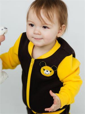 Куртка детская Винни Yuumi. Цвет: коричневый
