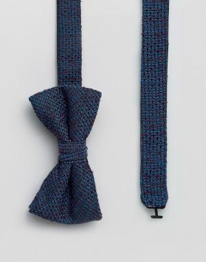 Ted Baker Фактурный галстук-бабочка. Цвет: синий