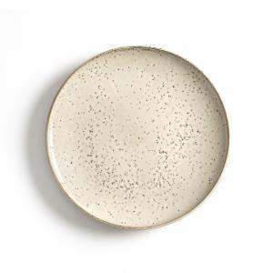 Комплект из 4 мелких тарелок керамики, Olazhi AM.PM.. Цвет: серо-бежевый
