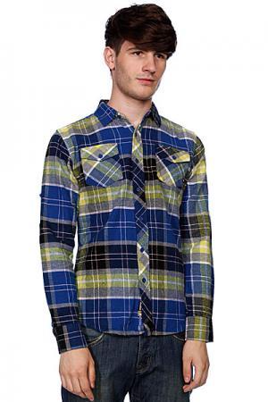 Рубашка в клетку  Haworth Deep Blue Zoo York. Цвет: синий,желтый