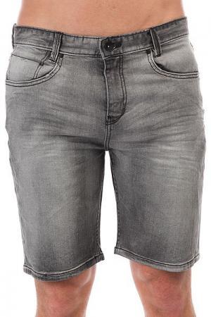 Шорты джинсовые  Outsider 5 P. Denim Salty Vinta Black Billabong. Цвет: серый