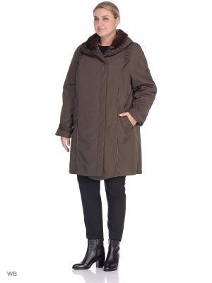Куртка Сандра VIKO. Цвет: коричневый