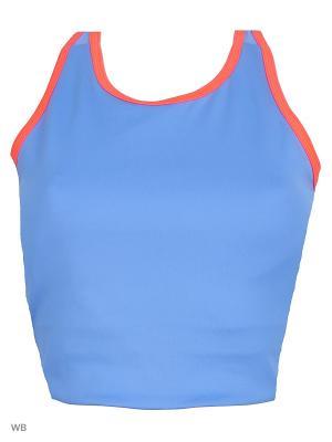 Спортивный бюстгальтер CROP BRA NEONBL Adidas. Цвет: синий