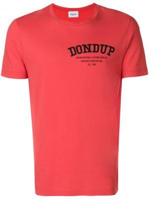 Базовая футболка Dondup. Цвет: красный