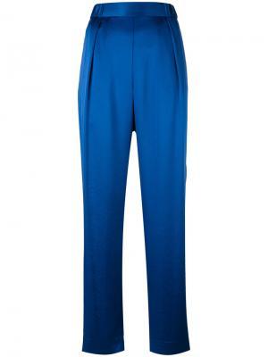 Зауженные брюки Diane Von Furstenberg. Цвет: синий