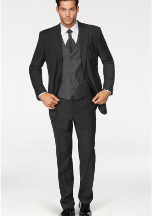 Костюм, 5 частей: пиджак + брюки жилет пластрон карманный платок STUDIO COLETTI. Цвет: бежевый, черный