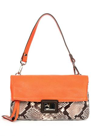 Сумка-клатч Gianni Chiarini. Цвет: оранжевый, бежевый, коричневый