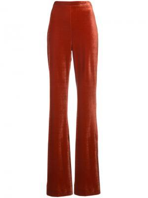 Широкие брюки Christian Siriano. Цвет: красный
