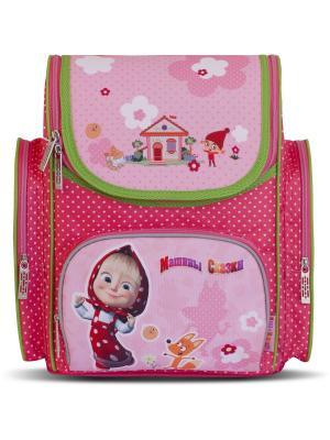 Рюкзак ортопедический средний Маша и Медведь Фантазия. Цвет: розовый
