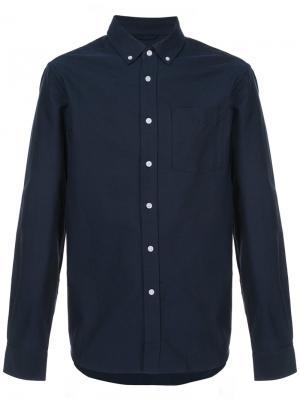 Классическая рубашка Saturdays Nyc. Цвет: синий