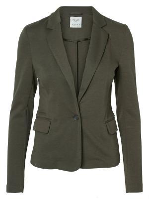 Блейзер Vero moda. Цвет: темно-зеленый
