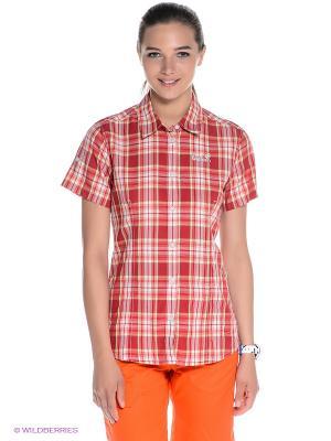 Рубашка Jack Wolfskin. Цвет: красный