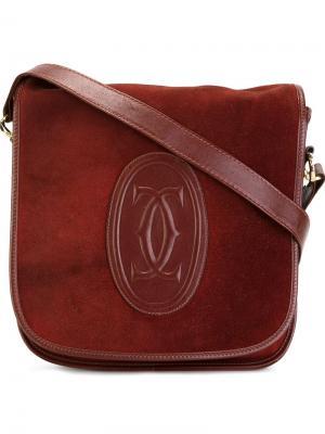 Сумка на плечо с логотипом CC Cartier Vintage. Цвет: красный