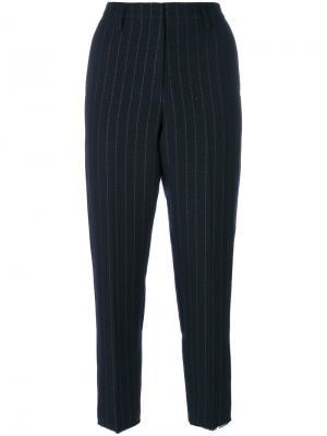Полосатые брюки с завышенной талией Golden Goose Deluxe Brand. Цвет: синий