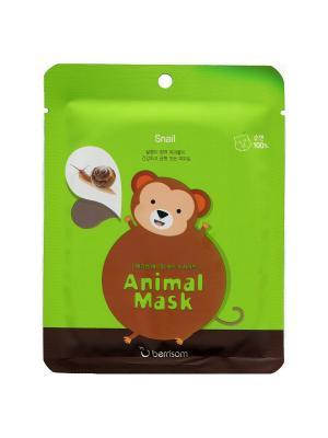Маска для лица серии Animal mask  Обезьянка Berrisom. Цвет: белый