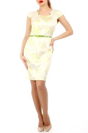 Платье Lamiavita. Цвет: молочный, салатовый