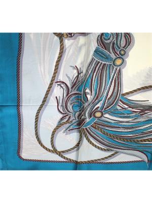 Платок Dolci Capricci. Цвет: бирюзовый, кремовый
