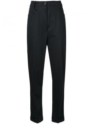 Узкие брюки с заниженным шаговым швом Rundholz. Цвет: чёрный