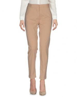 Повседневные брюки KONTATTO. Цвет: верблюжий