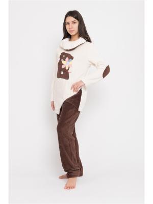 Пижама BON-AR. Цвет: бежевый