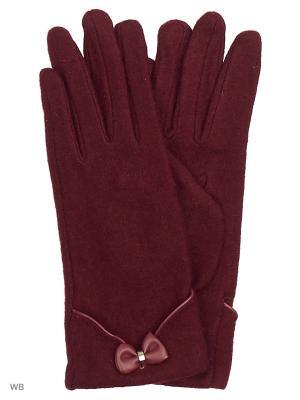 Перчатки Malgrado. Цвет: бордовый