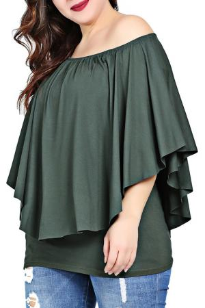 Блуза VALERIA FRATTA. Цвет: khaki