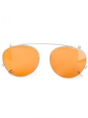 Солнцезащитные очки Clip On Miki Kyme. Цвет: жёлтый и оранжевый