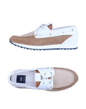 Обувь на шнурках SAX. Цвет: бежевый