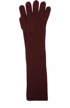 Удлиненные перчатки из кашемира Johnstons Of Elgin. Цвет: бордовый