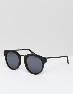 Le Specs Черные солнцезащитные очки в круглой оправе Hypnotize. Цвет: черный