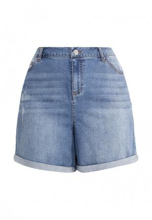 Шорты джинсовые Dorothy Perkins Curve. Цвет: голубой
