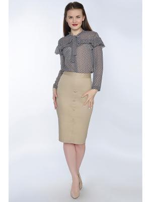 Блузка RISE. Цвет: серый, бледно-розовый