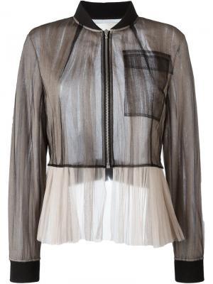 Bicolour jacket Quetsche. Цвет: чёрный