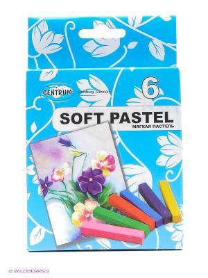 Пастель мягкая художественная, профессиональная, 6 цветов Centrum. Цвет: синий