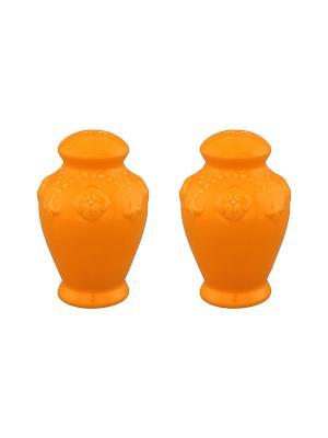 Набор для специй  Оранжевый с узором Elan Gallery. Цвет: оранжевый