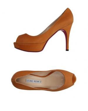 Туфли LUCIANO PADOVAN. Цвет: желто-коричневый