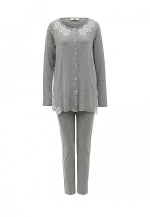 Пижама Twin-Set Simona Barbieri. Цвет: серый