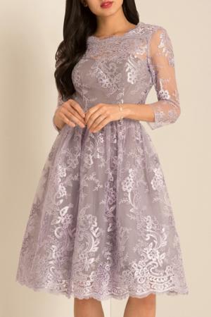 Платье CHI LONDON. Цвет: lilac