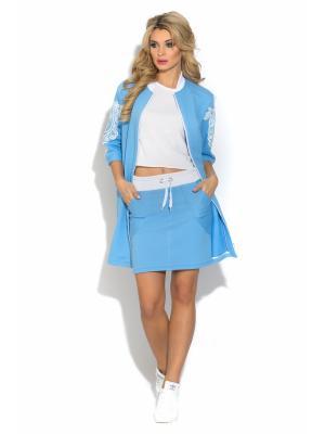 Пальто CLEVER woman studio. Цвет: голубой