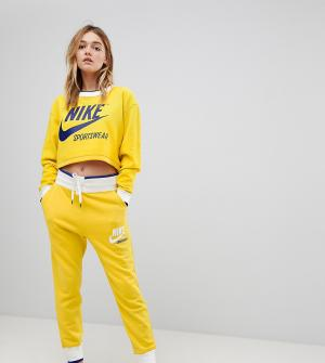 Nike Желтые джоггеры эксклюзивно для ASOS Archive. Цвет: желтый