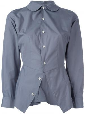 Асимметричная рубашка Junya Watanabe Comme Des Garçons Vintage. Цвет: серый