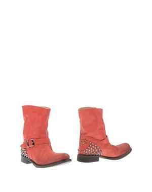 Полусапоги и высокие ботинки TWIN-SET Simona Barbieri. Цвет: коралловый
