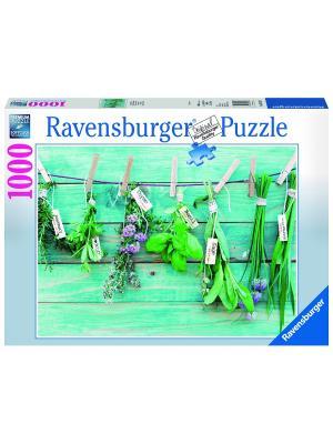 Пазл  Садовые травы 1000 шт Ravensburger. Цвет: голубой, зеленый, коричневый