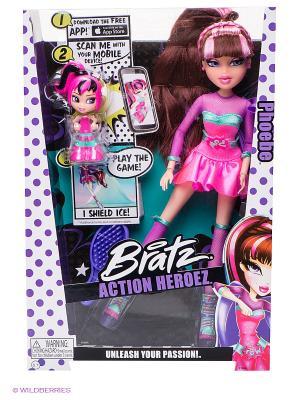Игрушка кукла Bratz Супергерои, Фиби. Цвет: розовый, фиолетовый