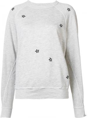 Star detail sweatshirt The Great. Цвет: серый