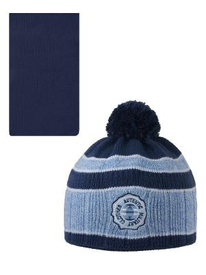 Шапка, шарф Pro-han. Цвет: синий, голубой