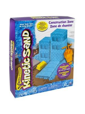 Песок для лепки Kinetic Sand. Игровой набор c формочками, 285 грамм SPIN MASTER. Цвет: голубой